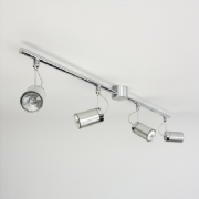 Montana Four Light Spot Light Bar in Brushed Aluminium and Polished Chrome - astro 1259004 (6058)